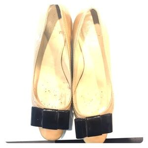Kate Spade brown and black ribbon small heal.